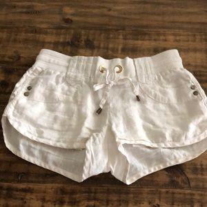Women's white love tree shorts